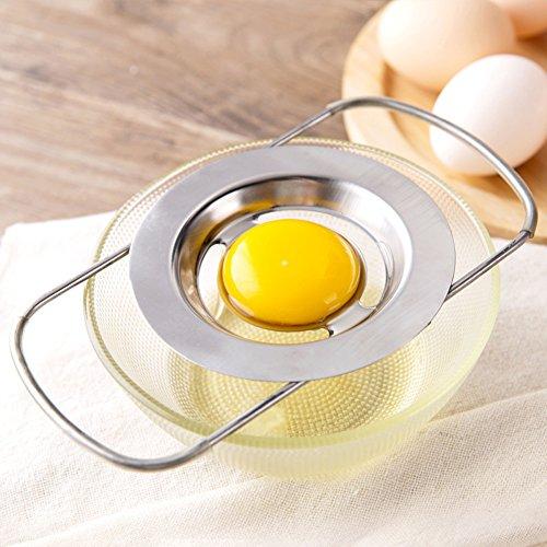 DSWW Stainless Steel Egg Separator Telescopic Egg White Yolk Filter for Cooking Kitchen Gadget