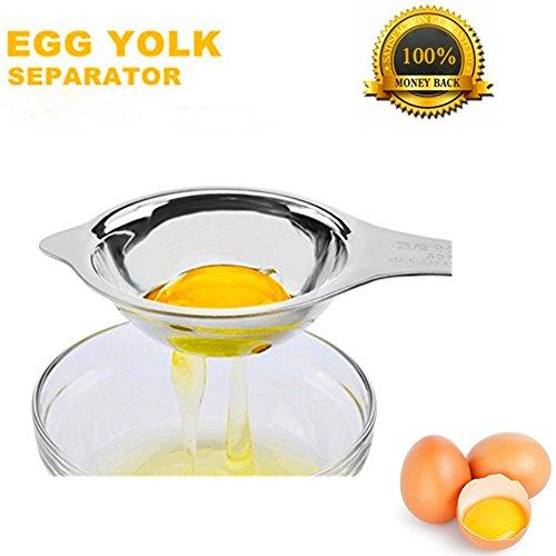Stainless Steel Egg SeparatorEgg Yolk White Filter Food Grade Egg Divider for Kitchen Cooking Baking Tool Safe Chef Kitchen Gad Egg Extractor