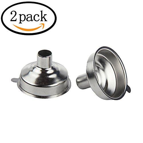 WOVTE Stainless Steel Mini Funnel for Essential Oil Bottles Flasks Pack of 2