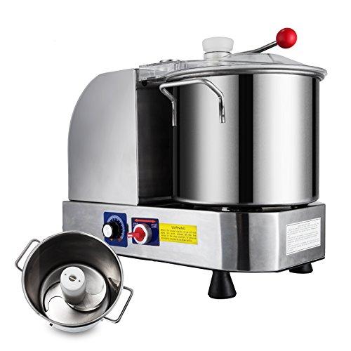Happybuy Food Cutter Mixer Food Grinder Processor 8502000 RPM Food Grinder Commercial for Meat Vegetables and Fruit 9L