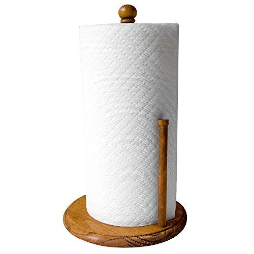 Home Basics Pine Paper Towel Holder