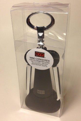 Oggi BLACK Jumbo Wing Corkscrew Wine Bottle Opener with Stand NEW IN PACK