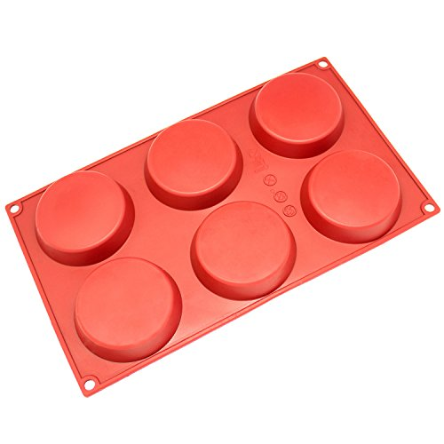 Freshware Silicone Mold Resin Mold Coaster Mold Chocolate Mold for Disc Cake Pie Custard and Tart Small 3-Cavity
