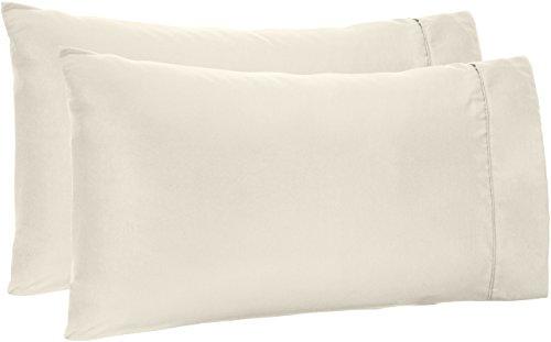 AmazonBasics Light-Weight Microfiber Pillowcases - 2-Pack Standard Cream