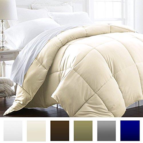 Beckham Hotel Collection 1600 Series - Lightweight - Luxury Goose Down Alternative Comforter - Hotel Quality Comforter and Hypoallergenic - KingCali King - Cream