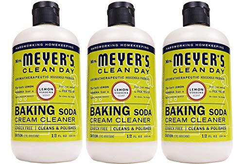 Mrs Meyers Baking Soda Cream Cleaner Lemon Verbena 12 OZ Pack - 3