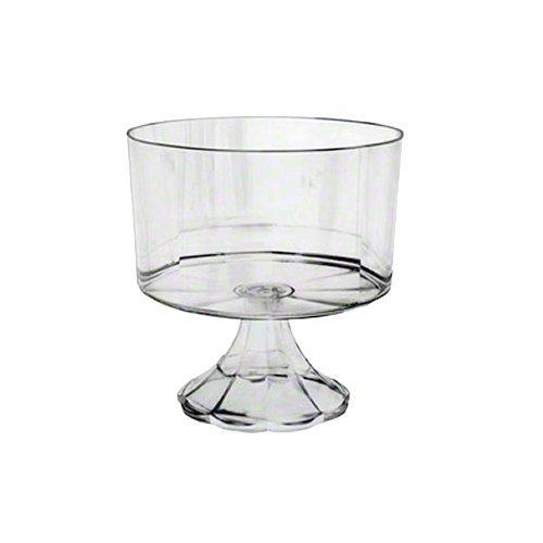 EMI Yoshi EMI-ETBC-C Essentials Pedestal Trifle Bowl 120 oz Clear Pack of 6
