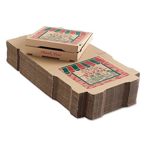50 Corrugated Pizza Boxes 12w x 12d x 1 34h Kraft