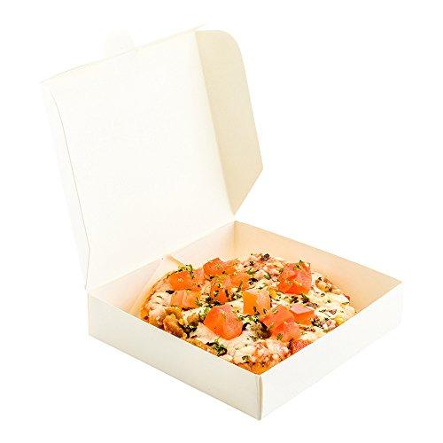 Mini Pizza Box Mini Square Cardboard Pizza Box Disposable Pizza Box - White - 35 - 100ct Box - Restaurantware