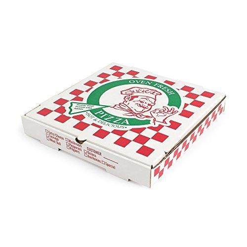 Pratt PRA1312 Pizza Box B-Flute Oven Fresh Pizza Print 1 78 Deep 12 WhiteKraft Pack of 50