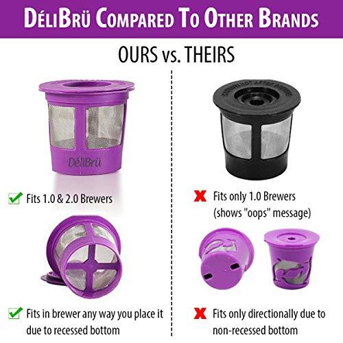 Reusable K Cups for Keurig 20 10 4PACK Coffee Makers Universal Refillable KCups Keurig filter Reusable kcup k cup k-cups reusable filter by Delibru