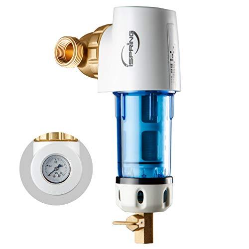 iSpring WSP50GR - Reusable Spin Down Sediment Water Filter 50 Micron wScraper 360°Head