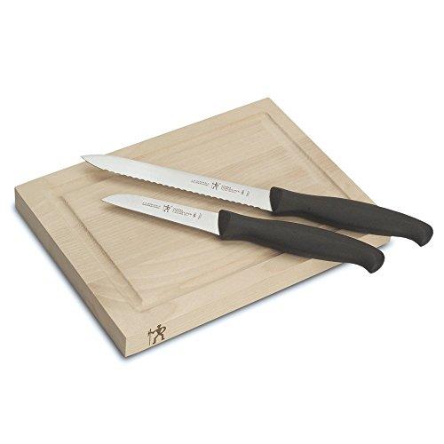 JA Henckels 11222-000 International Accessories Bar Knife Board Set 3-piece BlackStainless Steel