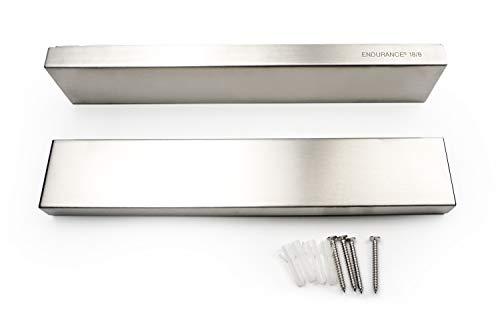 RSVP Endurance 188 Stainless Steel Deluxe Magnetic Knife Bars Set of 2 10-inch