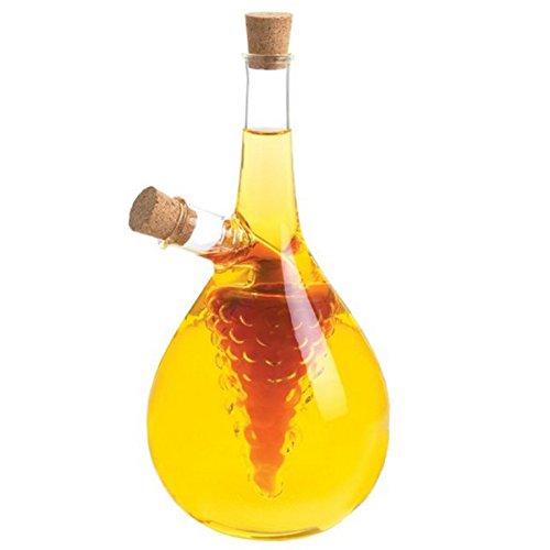 Eleton Kitchen Storage Cooking Tools Oil and Vinegar Bottle Cruet 8 With Grape Cluster