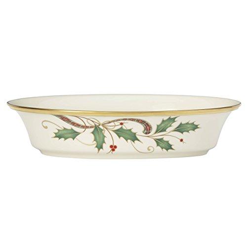 Lenox Holiday Nouveau Gold Open Vegetable Bowl