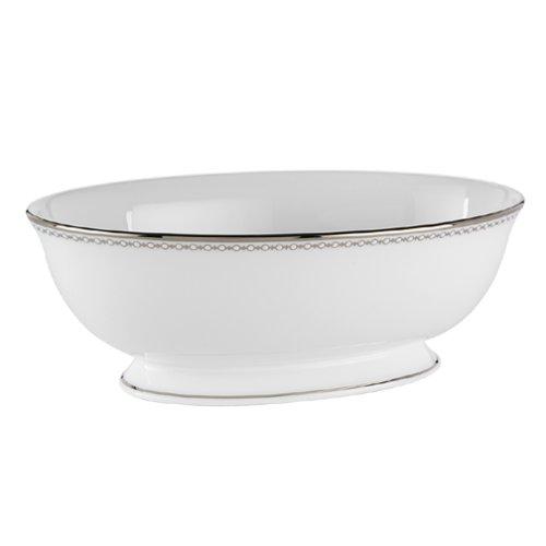 Lenox Pearl Platinum Bone China Open Vegetable Bowl
