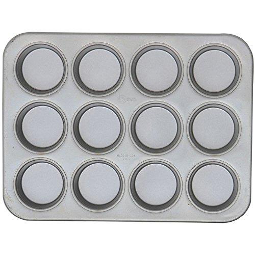 Chicago Metallic 43515 Glazed Aluminized Steel 12 Cup Jumbo Muffin Pan