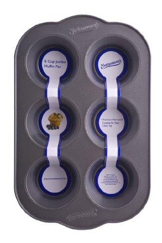 Entenmanns Bakeware Classic ENT19011 6-Cup Jumbo MuffinCupcake Pan