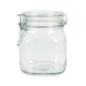 6 Pack Bormioli Rocco Fido Glass Canning Latch Lid Jar 1L 37 Ounce