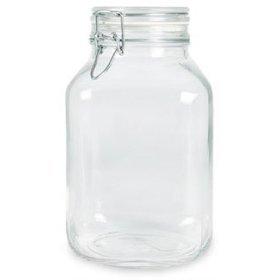 Bormioli Rocco Fido Glass Canning Jar Italian - 4 Liter by Bormioli Rocco