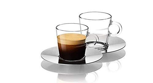 Nespresso Set Glass Collection Espresso Cups SaucersA P Cahen DesignNew