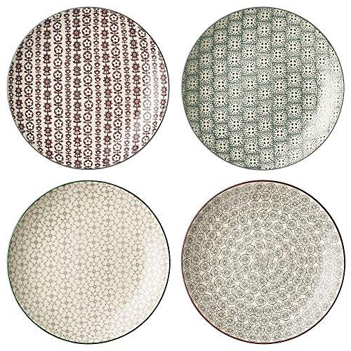 10 Ceramic Plate 4 Piece Set