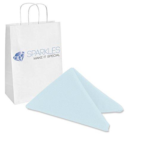 Sparkles Make It Special 150-pcs 17 x 17 Inch Polyester Cloth Napkins Wedding Party Banquet Restaurant Linen Light Blue