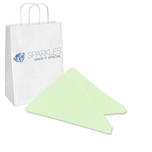 Sparkles Make It Special 200-pcs 17 x 17 Inch Polyester Cloth Napkins Wedding Party Banquet Restaurant Linen Mint Green