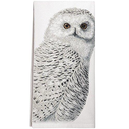 Montgomery Street Snowy Owl Cotton Flour Sack Dish Towel