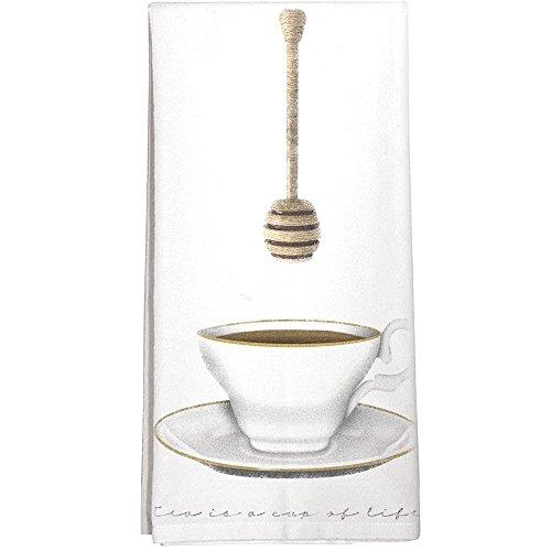 Montgomery Street Teacup and Honey Dipper Cotton Flour Sack Dish Towel