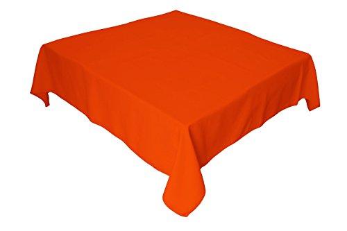 LA Linen Polyester Poplin Square Tablecloth 58 by 58-Inch Orange