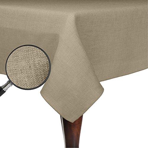 Ultimate Textile Faux Burlap - Havana 70 x 70-Inch Square Tablecloth - Basket Weave Natural