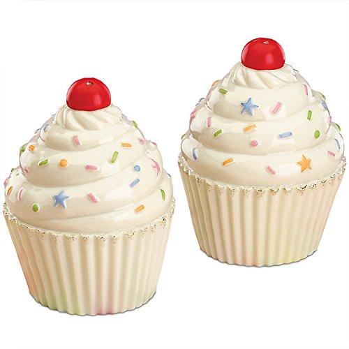 Lenox Cute As A Cupcake Fine Porcelain Salt and Pepper Shaker Set 830600 32 Tall Ivory