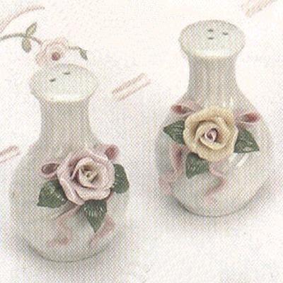 Porcelain Salt and Pepper Shakers - Set of 4