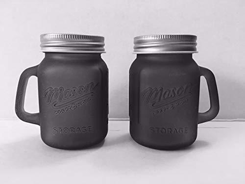 Mason Jar glass Salt Pepper Shaker Set