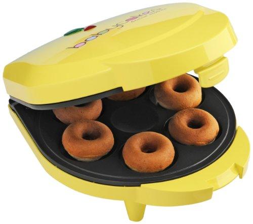 Babycakes Dn-6 Mini Doughnut Maker, Yellow, 6 Donut