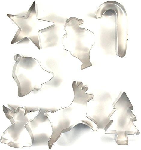 Fox Run 3648 Christmas Cookie Cutter Set Stainless Steel 7-Piece