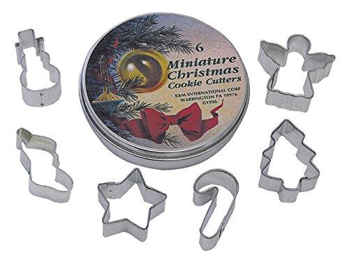 R M Mini Christmas Cookie Cutter Set Tin
