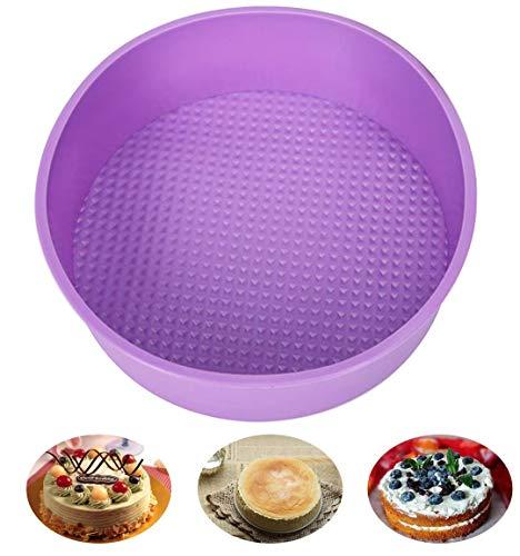 Baking Silicone 10-Inch Round Cake Pan Baking Mold BPA Free Non-Stick European-Grade Silicone 216-Inches Deep