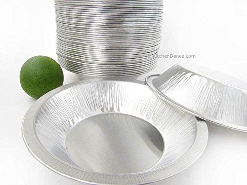DisposableReusable Heavy Duty Aluminum 6 Mini Pie Pans Deep 677- 11 oz Capacity 25