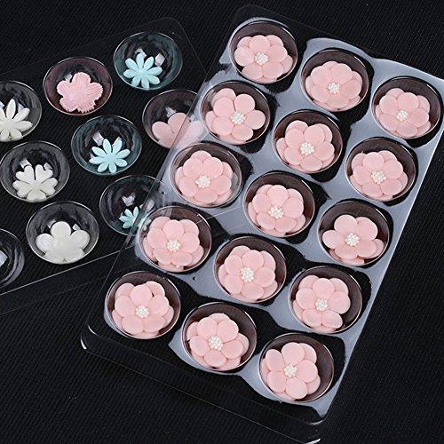 SK 2-Piece Set 15 Cavity Sugar Flower Fondant Drying Shaping Plate Plastic Sugar Flower Fondant Forming Shaping Mold