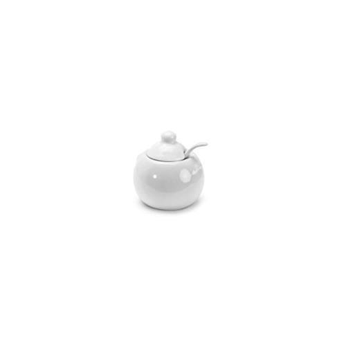BIA Cordon Bleu White Porcelain 8 ounce Covered Sugar Bowl