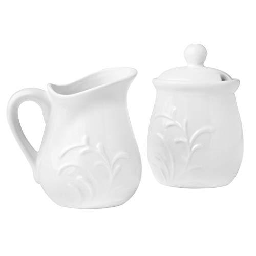 Porcelain Sugar and Creamer Cherish Design