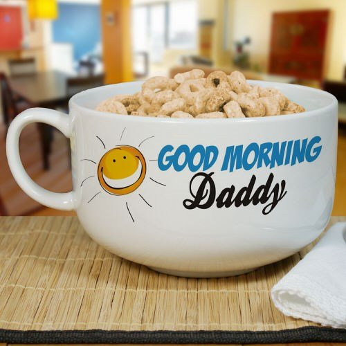 GiftsForYouNow Personalized Cereal Bowl Holds 32 oz Ceramic
