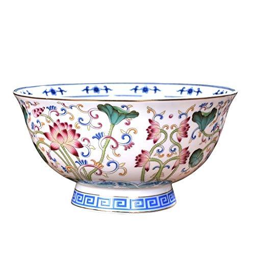 Ceramic Bowls Grain Bowls Household Utensils Ancient Porcelain Rice Bowl High-foot Anti-scalding Bowls Ramen Bowls Party Dinner Bowls Color  White Size  156cm