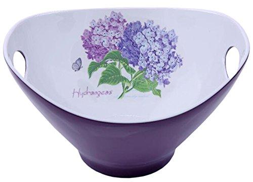 Shall Housewares International 65810-H Melamine Salad Bowl Hydrangea 10