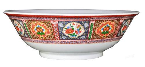 Oriental Pho Noodle Melamine Soup Bowl 45 Ounce Peacock Design