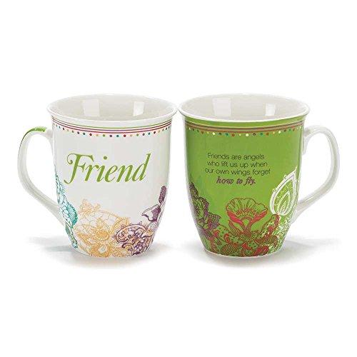 Green Friend Are Angels 18 Oz New Bone China Coffee Cup Mug