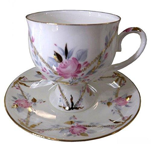 Lomonosov Porcelain Set Galant Bone China Coffee Cup 54 oz160 ml and Saucer